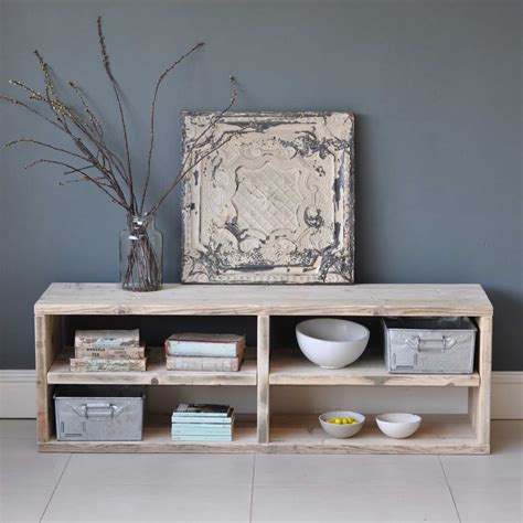 reclaimed wood console table reclaimed timber media console table