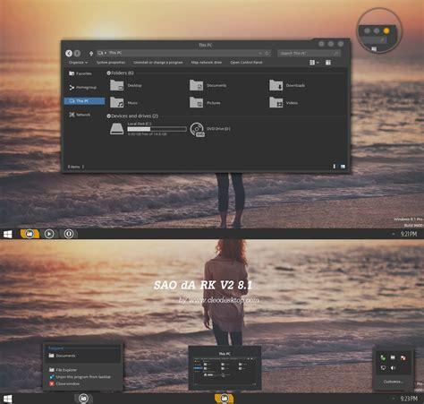 download theme pc sao sao dark v2 theme windows 8 1 by cleodesktop on deviantart