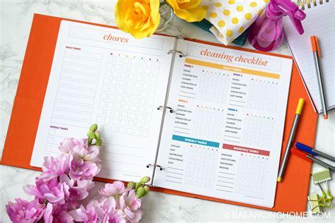 printable home organizing charts household organization printables organization printables