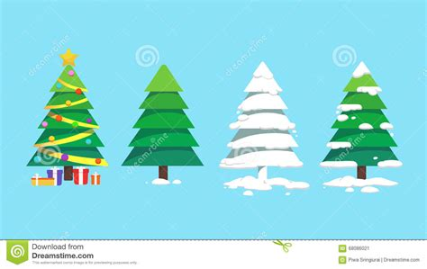 sets of christmas trees design art stock vector