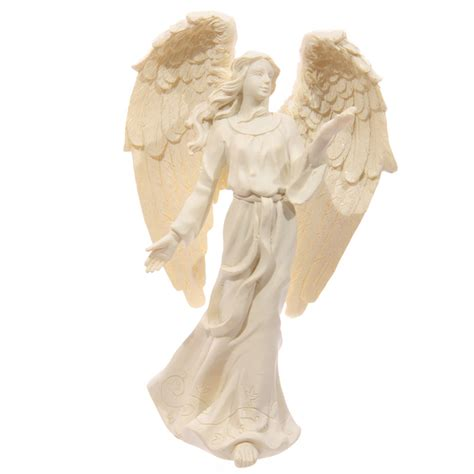 Home Interior Angel Figurines cream standing angel figurine 17cm 9358 puckator ltd