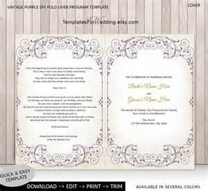 wedding ceremony program template word diy wedding program template ceremony program instant word