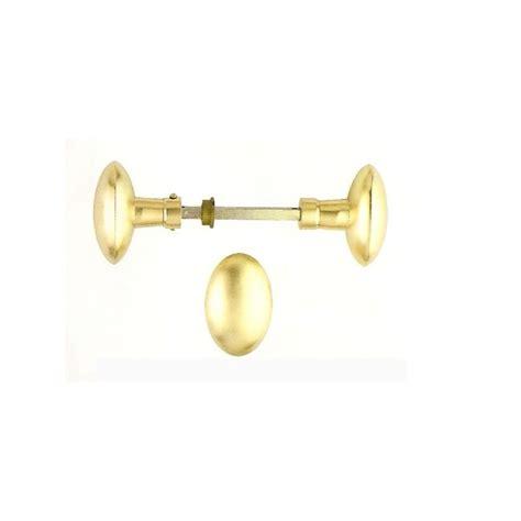 poign 233 e de porte bouton ovale antique laiton poli