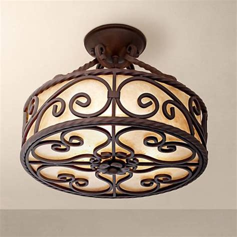 mica lighting fixtures mica collection 15 quot wide iron ceiling light