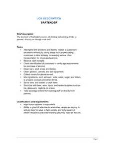 Bartender Duties Resume Best Cover Letter And Resume Samples For Staff Accountant