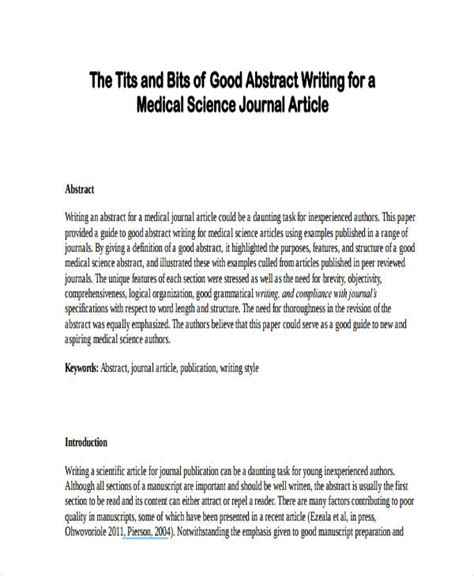 5 abstract writing exles sles