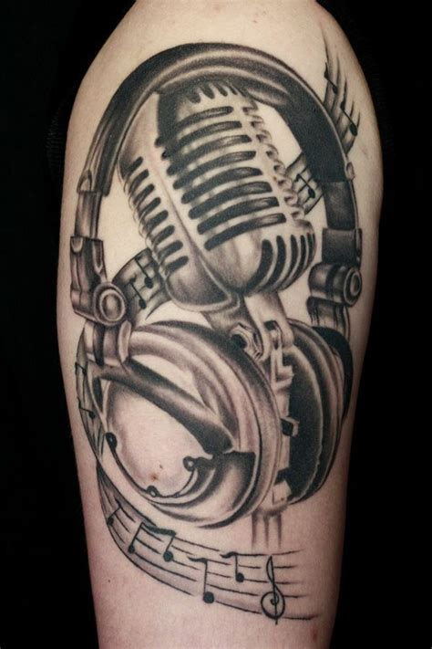 microphone tattoo designs for men 17 best ideas about microphone on mic