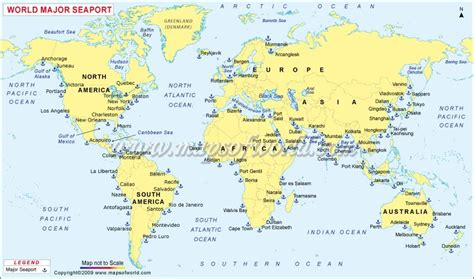 seaport map major ports of the world world sea ports map