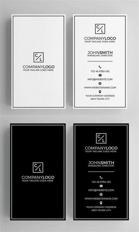 Minimalist Card Template by 25 Minimal Clean Business Cards Psd Templates Design