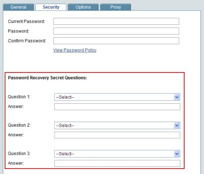 secret questions adding secret questions for password reset