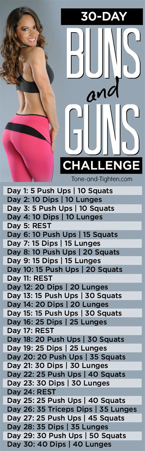 30 day arms and workout challenge tone and tighten