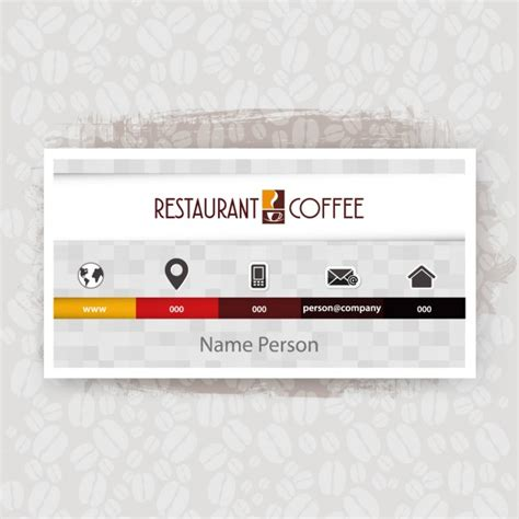 Http Www Freepik Free Vector Coffee Business Card Template 1105489 Htm by Coffee Shop Business Card Vector Free