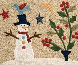 snowman quilt block from the meadow and through the