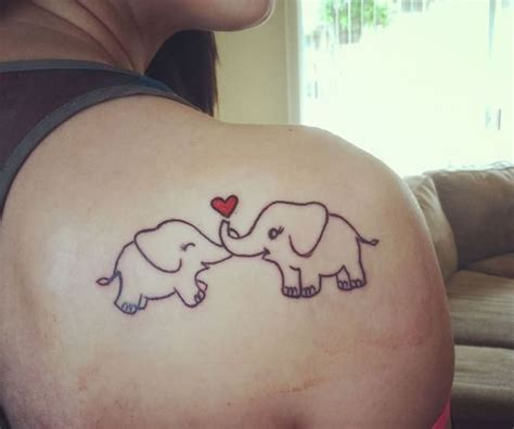 mom and baby elephant tattoo designs images designs
