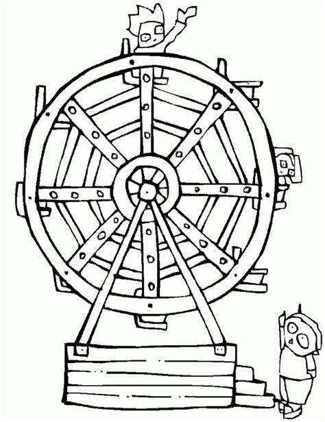 water wheel coloring page ferris wheel coloring page coloring home