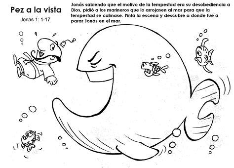 jonas y el gran pez dibujos para colorear buenas noticias para los ni 209 os actividades jon 193 s