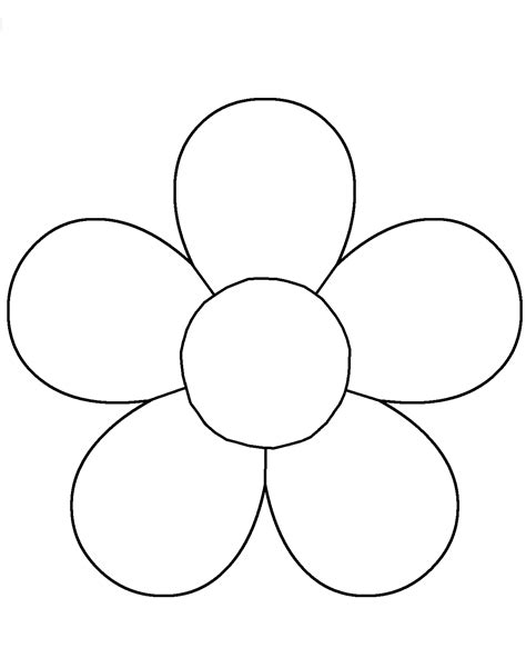 Flower Template For Children S Activities Activity Shelter Coloring Pages For Kids Colouring In Templates