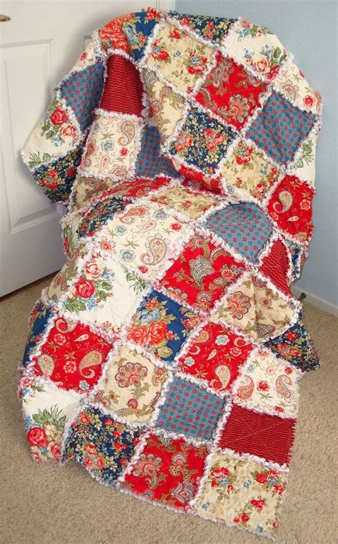 A Rag Quilt With Cotton Fabric by 268 Best Images About Rag Quilts On Sewing