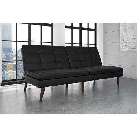 futon faux leather dhp premium westbury linen pillowtop twin double size