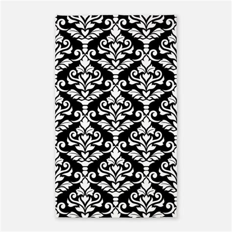 Black And White Damask Area Rug Black And White Damask Bedding Black And White Damask Duvet Covers Pillow Cases More