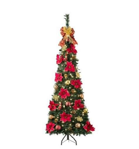corner christmas tree sale 6 pre lit lighted decorated artificial corner pull up tree ebay