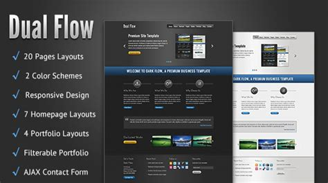 html5 business template dual flow premium html5 business template themes