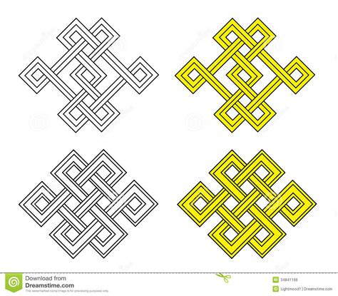pattern for meaning auspicious knot royalty free stock image image 34841166
