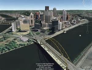 Google Pittsburgh by New 3d Cities In Google Earth Pittsburgh Seattle
