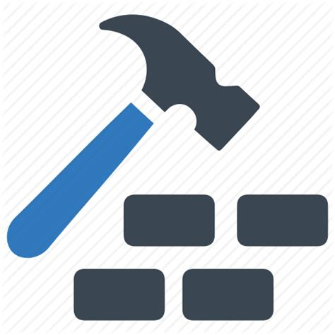 Adobe House by Brick Building Construction Equipment Hammer Icon