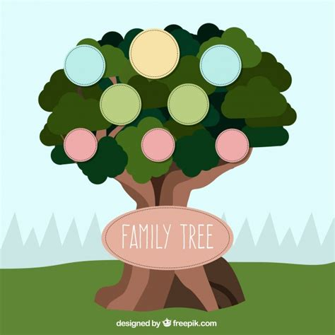 Family Tree Template Vector Free Download Family Tree Template Vintage Vector
