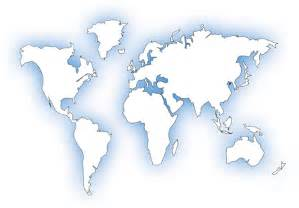 Global Map Template by World Map Outline