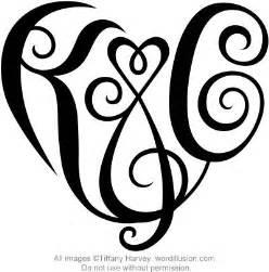 quot k amp c quot heart design a custom design of the initials quot k amp c