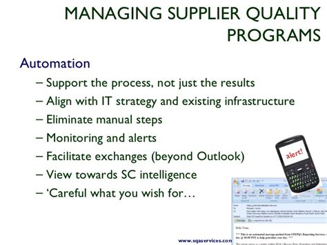 taking control of supplier quality