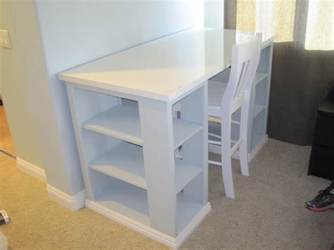 white modern craft table modified diy projects