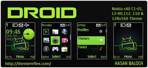 themes nokia 110 nth droid theme for nokia c1 01 c2 00 100 112 128 215 160