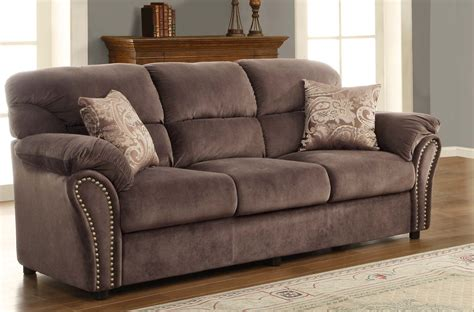 sofas valentina transitional chocolate microfiber sofa