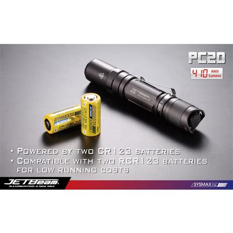 Senter Cree T6 jetbeam pc20 senter led cree xm l t6 410 lumens black