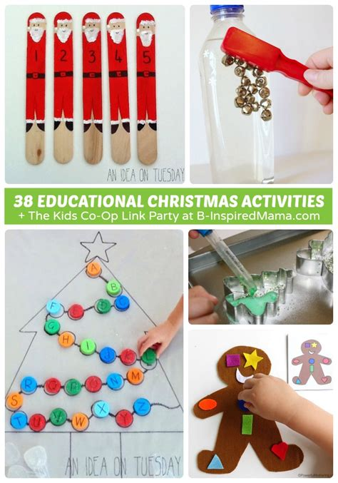 38 educational christmas activities for kids the kids co op link party b inspired mama