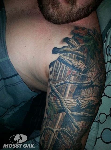camo sleeve tattoo dustin b s half sleeve of mossy oak s up infinity in