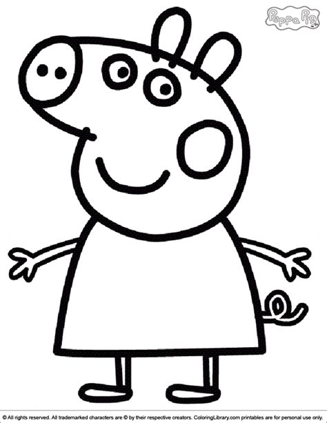 peppa pig template peppa pig coloring pages coloring home