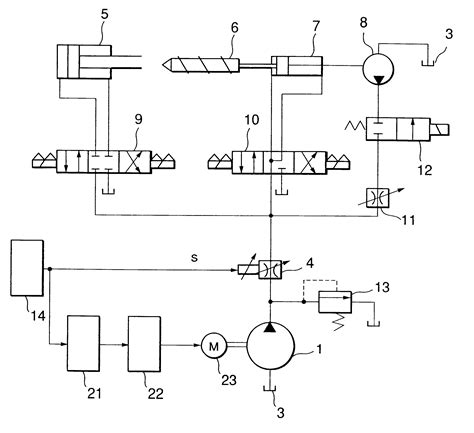 diagram of hydraulic hydraulic circuit diagram of injection molding machine