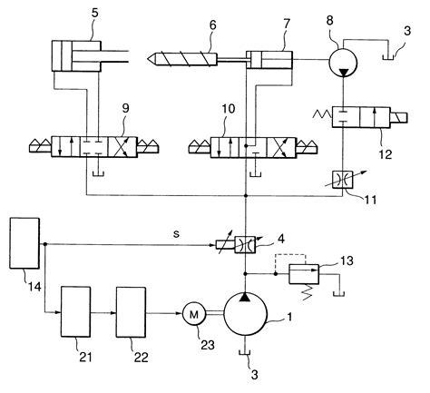 hydraulic diagram hydraulic circuit diagram of injection molding machine