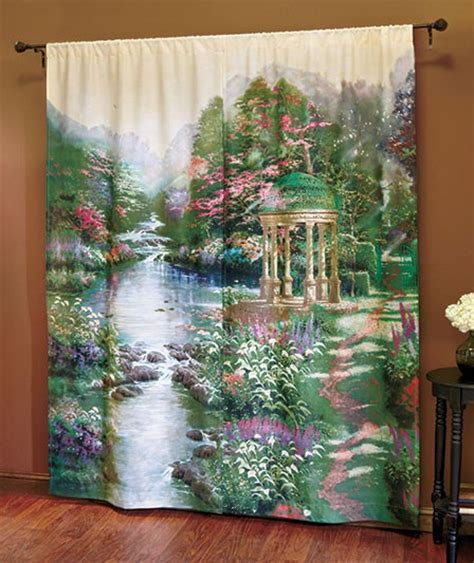 thomas kinkade curtains new thomas kinkade curtain panel set quot mountain majesty