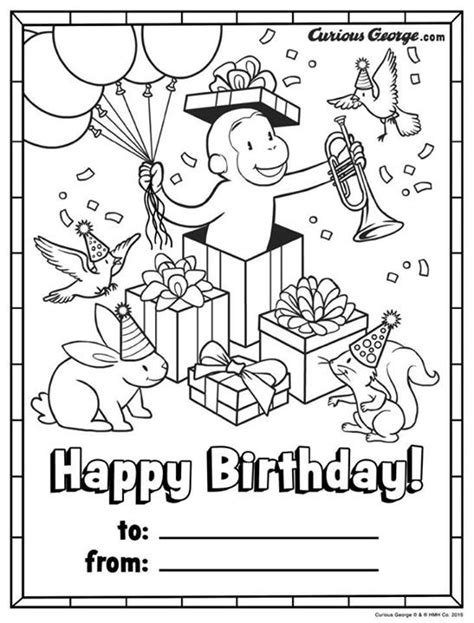 curious george coloring pages birthday 25 best curious george images on pinterest curious