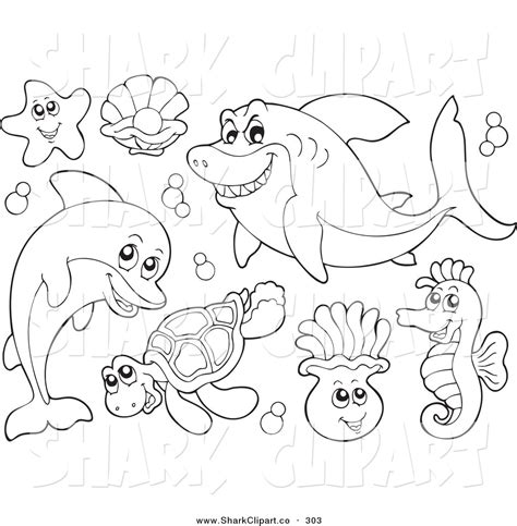 sea animals coloring pages coloring pages clipart clipart panda free clipart images