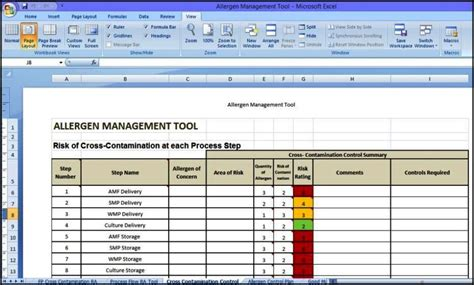 food safety risk assessment template sletemplatess