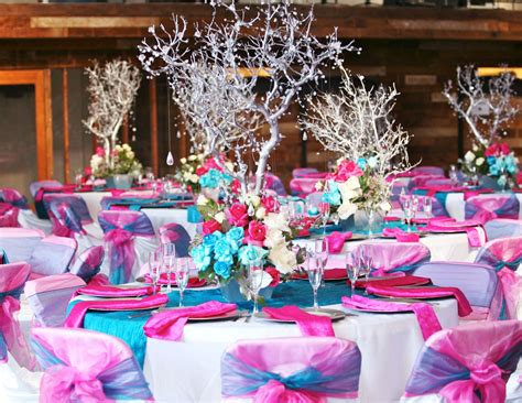 theme table decorations how to combine colors for your quince theme table
