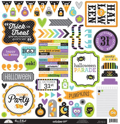 doodlebug october 31st doodlebug design october 31st this and that stickers