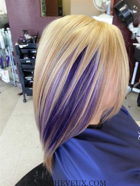 short hairstyles with peekaboo purple layer 20 chic coiffures pour purple cheveux 2 016 cheveux coiffure