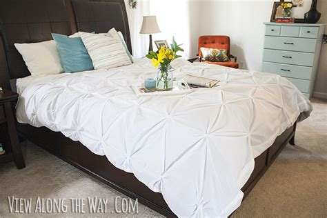 diy down comforter tutorial how to make a diy pintuck duvet cover